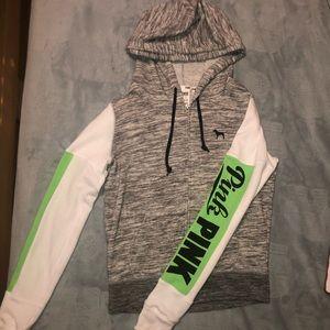 Pink Victoria's Secret zip-up sweatshirt size XS